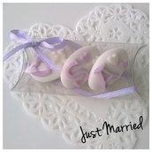 confettata matrimonio,  confetti decorati, colore lilla, wedding