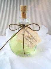 ampolle in vetro con bagnoschiuma 10 cm colorati fragranze diverse su richiesta