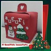 Portapanettone  Natale Sweet Snowman
