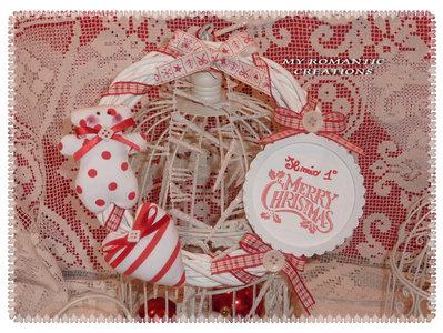 """Ghirlanda """" Il mio primo Natale""""."""