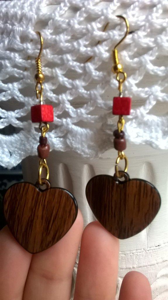 orecchini con ciondolo a cuore