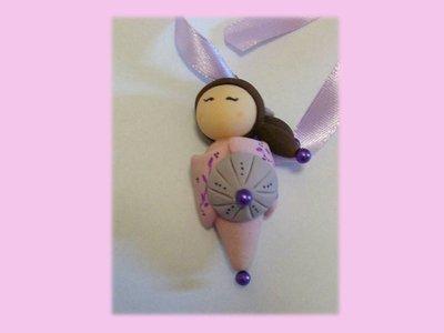 Kokeshi doll pink-violet