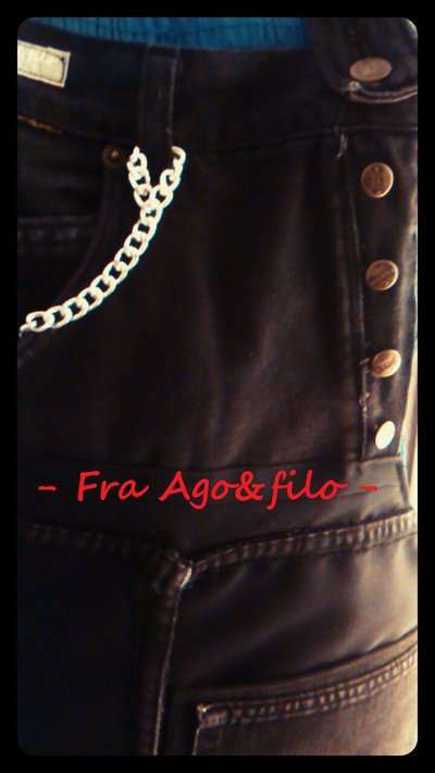 "GREMBIULE JEANS+TEX "" Fra Patch&Work .. e il Sartoriale "" -- mod jeans in Sbieco --"