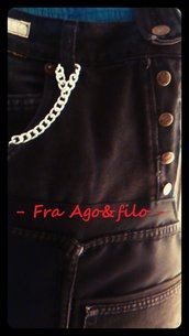 """GREMBIULE JEANS+TEX """" Fra Patch&Work .. e il Sartoriale """" -- mod jeans in Sbieco --"""