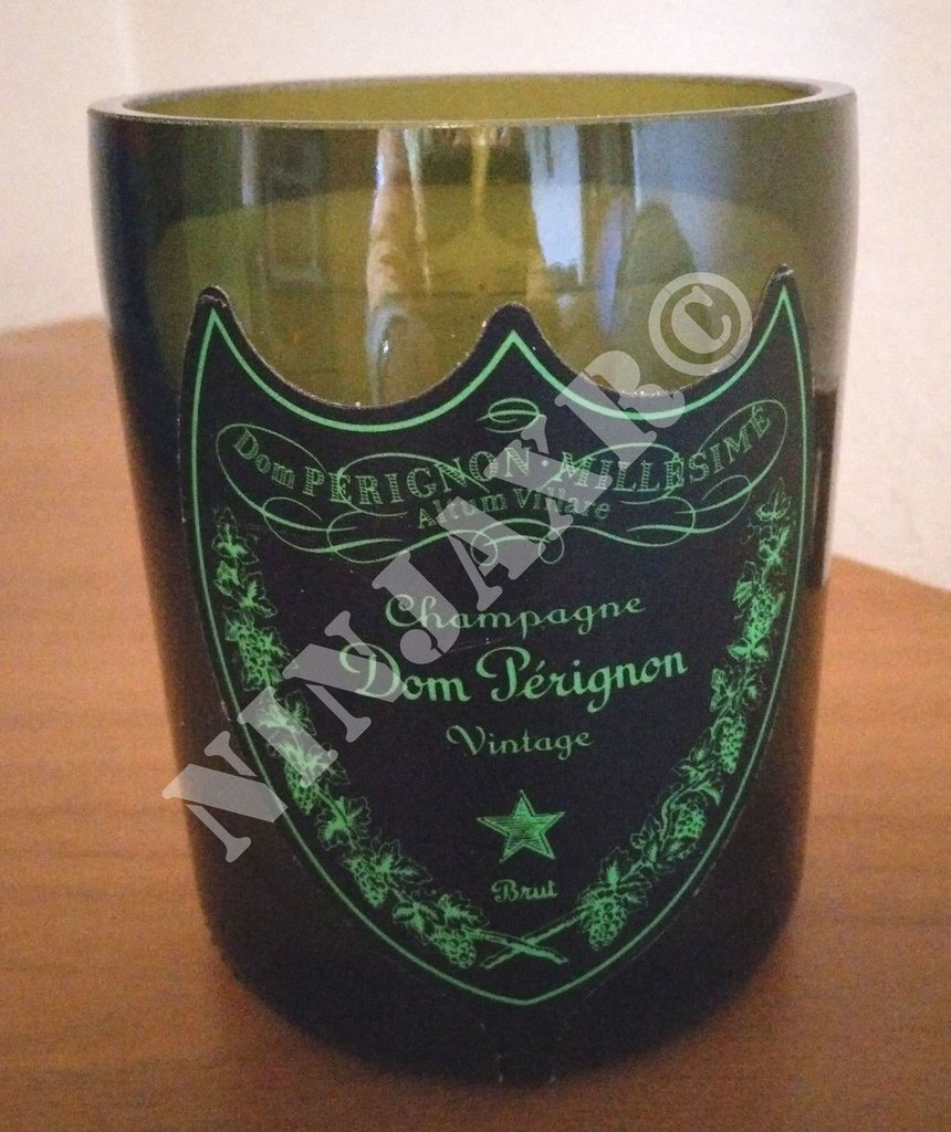 Candela Bottiglia Champagne Dom Perignon Luminous Portacandela
