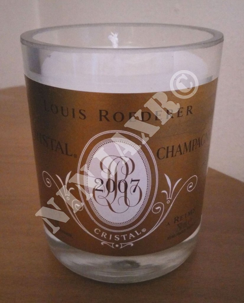 Candela da bottiglia Champagne  Cristal maison Louis Roederer
