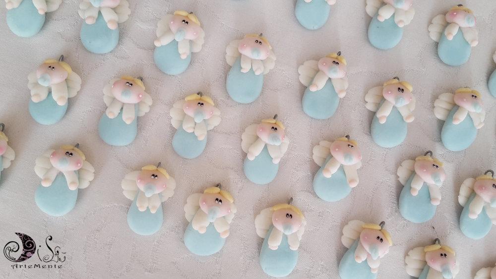 30 Angioletti bebè bomboniere ciondoli per nascita e battesimo