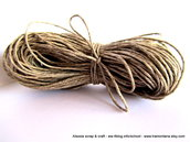 filato di lino per collane e bijoux - 20 mt. color corda - SPESE DI SPEDIZIONE GRATIS