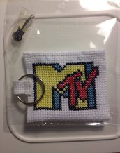 Borsellino MTV logo con portachiavi