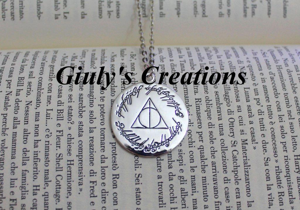 Collana I Doni della Morte di HARRY POTTER nell'Unico Anello de IL SIGNORE DEGLI ANELLI Harry Potter Sauron Frodo Baggins Multifandom