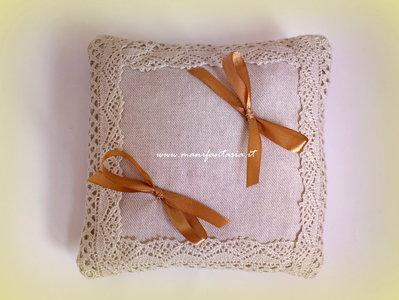 cuscino portafedi nuziale quadrato colore avorio