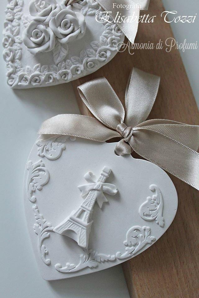 Matrimonio Tema Parigi : Gessi profumati per segnaposto matrimonio torre eiffel