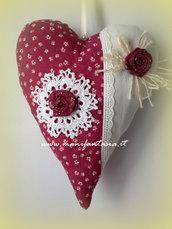 cuore di stoffa imbottito romantico