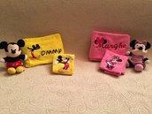 Set Asciugamani Minnie e Topolino Personalizzabili