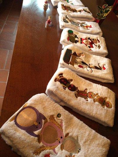 Simpatico Set Asciugamani Natalizi Personalizzabili