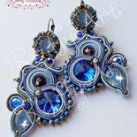 """Orecchini """"Sweet Lady Blue"""" (abbinabili con collana-spilla)"""