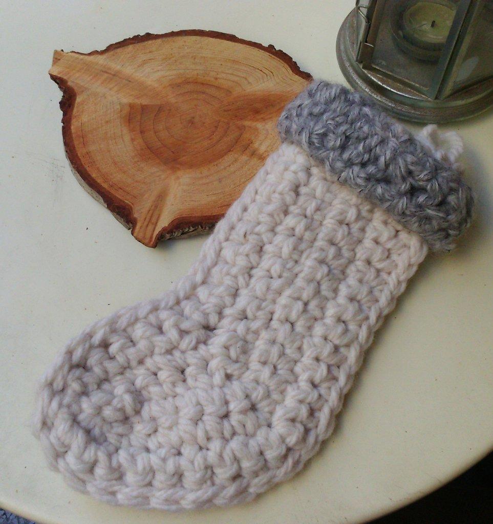 Calza di NaTale bianca di lana