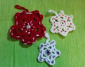 Decorazione per l'albero di Natale di lana