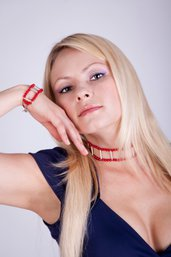 Collarino in corallo e argento fatto a mano - choker coral and silver hand-made
