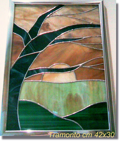 Tramonto in vetro
