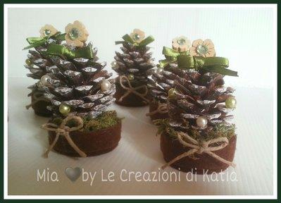 Segnaposto natalizi con pigne Set da 6 pezzi