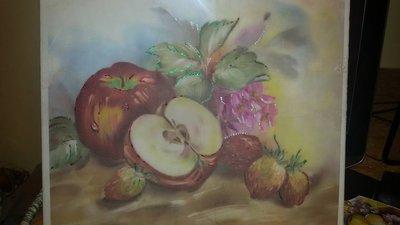 """""""La frutta"""" decoupage su tela"""