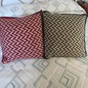 cuscino per divano lavorato a jaquard