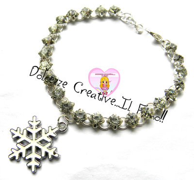 ☃ Natale In Dolcezze 2015 ☃ Bracciale Diamanti e fiocco di neve - Natalizio