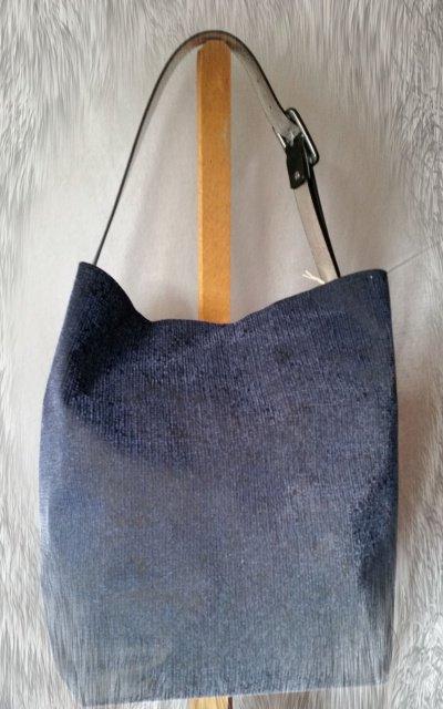 """borsa """"Tote Bag"""" blue e nero"""