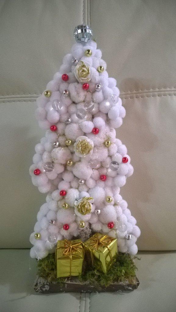 alberello natalizio bianco