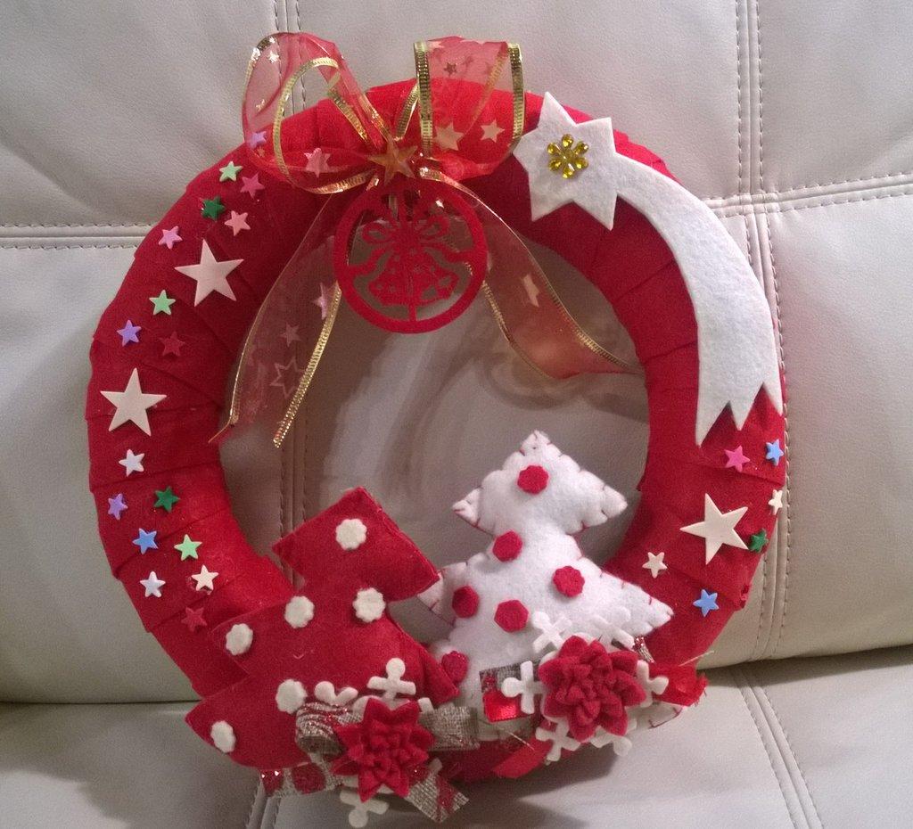 Estremamente Ghirlanda natalizia in pannolenci - Feste - Natale - di I lavori  QD96