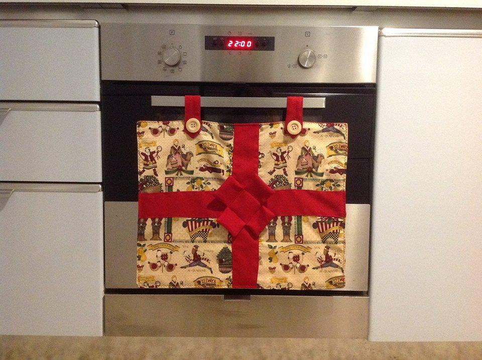 Copri forno Natale pacco regalo cotonina americana