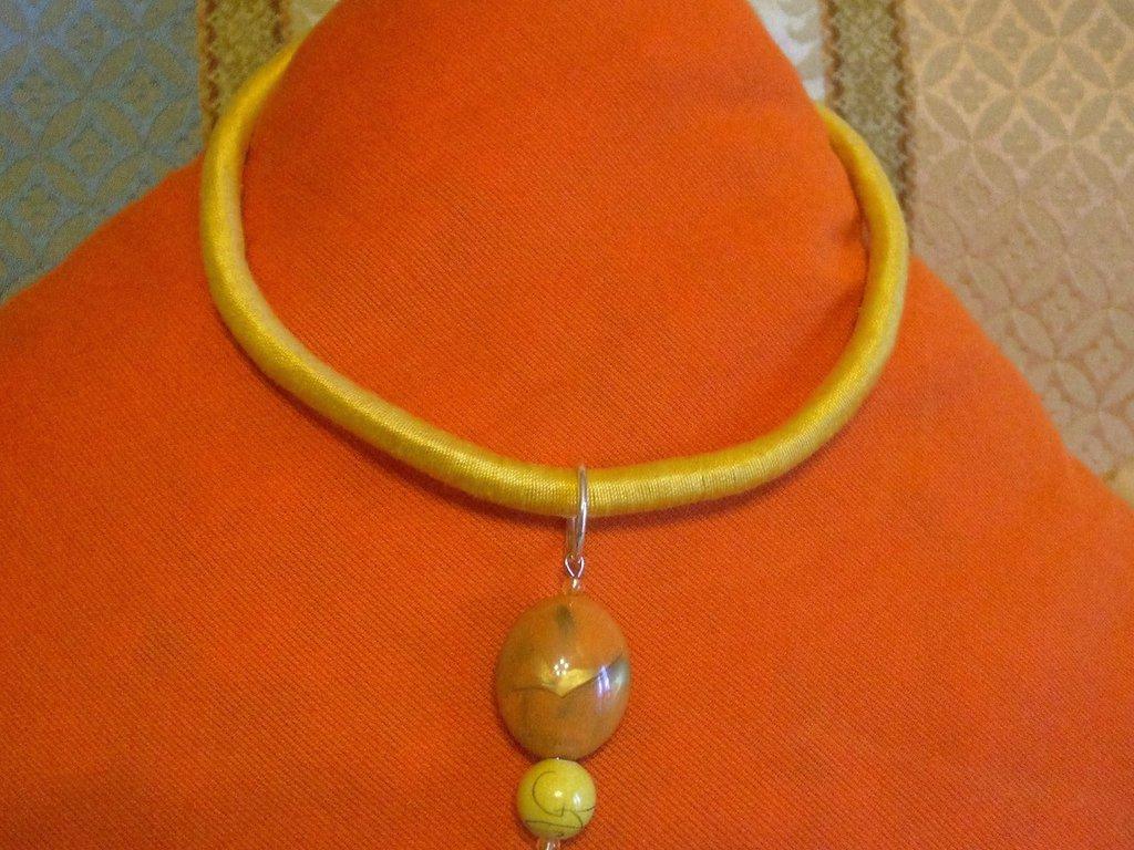 parure collier giallo