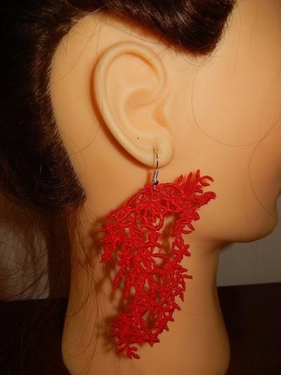orecchini pizzo macrame
