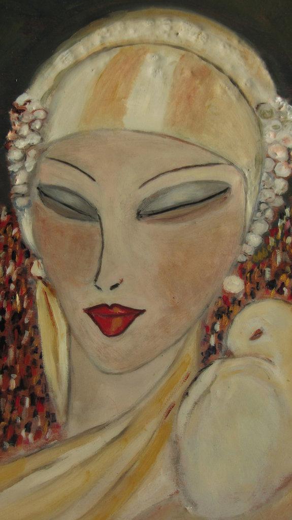 "figura femminile stile art deco anni 20/30 :"" femme fatale"""