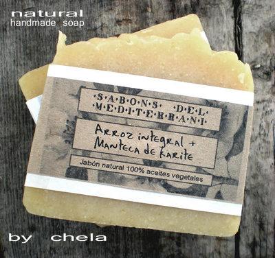 Arroz Integral + Karité - jabón vegano