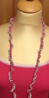 Collana lunga color argento