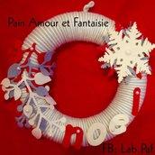 Ghirlanda di Natale rossa grigia e bianca