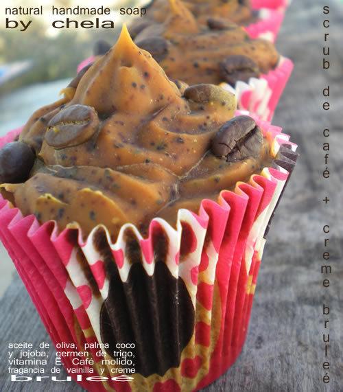 Scrub de Café Colombiano - cupcake soap