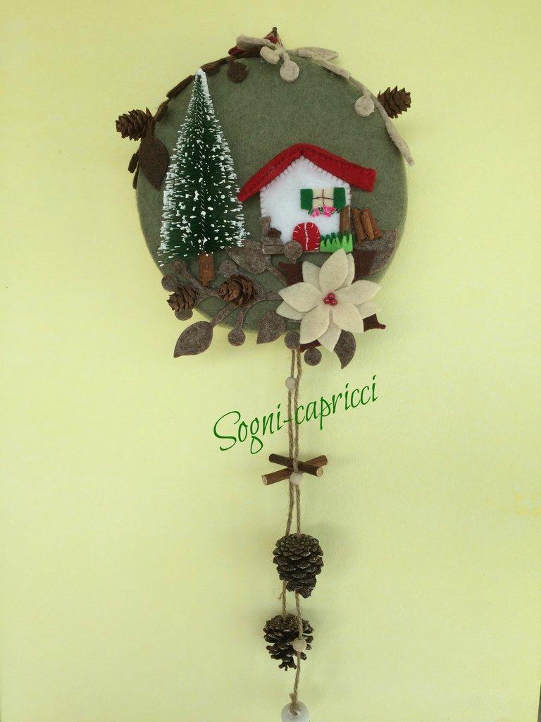 Dietro porta ghirlanda idea regalo con abete casetta - Ghirlanda porta ...
