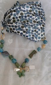 foulard gioiello con collana