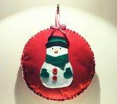 Fuoriporta natalizio pupazzo di neve