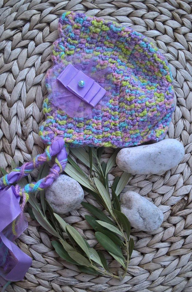 Cuffietta uncinetto neonata