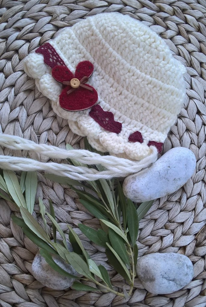 Cuffietta Neonato Uncinetto Bambini Abbigliamento Di Baby Nat