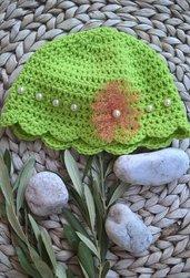Cappellino neonato uncinetto