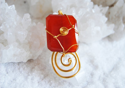 Corniola Rossa - Anello Energetico