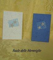 Partecipazione matrimonio realizzata a mano in carta cotone