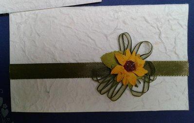 Partecipazione tema Girasole fatta a mano in carta cotone