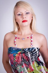 Collana in charoite e radice di rubino fatta a mano -necklace in charoite and root ruby handmade