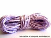 filato di lino per collane e bijoux - 20 mt. color lilla - SPESE DI SPEDIZIONE GRATIS